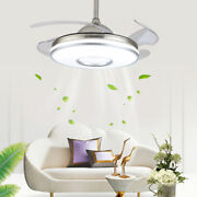 42 3 Speed Modern Retractable Ceiling Fan Led Light Setting W/remote Control
