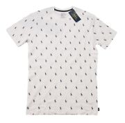 Polo Menand039s White All Over Pony Logo Graphic Crew-neck T-shirt