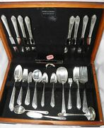 1937 Holmes And Edwards Inlaid Silverplate Flatware Set In Box 87 Pcs Some Htf