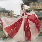 Traditional Hanfu Costume Embroidery Oriental Long Sleeve Chinese Style Princess