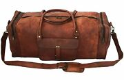 Dhk Handmade 25new Large Vintage Men Real Leather Tote Luggage Bag Trave Lm-194