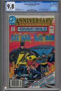 Brave And The Bold 200 Cgc 9.8 Super Htf Newsstand Variant White Pages