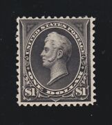 Us 261a 1 Perry Mint Unwatermarked W/ Pf Cert F-vf Og Ph Scv 2100