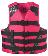 Full Throttle Adult And Teen Nylon Water Sports Vest-2x/4x 50-60 Pink