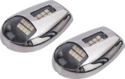 Led Side Mount Docking Lights-stainless Steel Pair