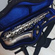 American Artist Alto Saxophone Low Pitch A Satin Silver Tube Vintage In Japan