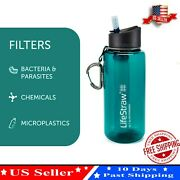 Portable Water Filter Straw Bottle Purifier Camping Hiking Survival Tool 3-stage