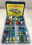 Vintage 1968 Lesney Official Matchbox Series Collectorand039s Case With 48 Vehicles