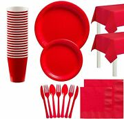 Party City Solid Party Tableware Supplies 20 Guests Plates Napkins Cups More