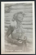 Mint Real Picture Postcard Native American Indian Chief Yankton Warrior