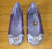 Disney Sofia The First Shimmer Costume Shoes Size 13-1