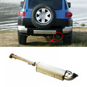 Silver Steel Rear Exhaust Muffler Tip Tail Pipe For Toyota Fj Cruiser 2007-2014