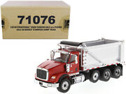 Diecast Masters Hx620 Tandem Axle With Pusher Axle Ox Stampede Dump Truck Red