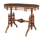 Late 19th Century Aesthetic Movement Walnut Side Table