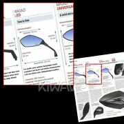 Fist Style Carbon Look Mirror Led Turn Signals 8mm For Bike Scooter Honda Suzuki