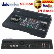 Dhl Datavideo Se-650 Switcher 4-channel 1080p 2sdi 2hdmi Inputs Video Directed