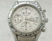Omega Speedmaster 3523.30 Automatic Thermometer Silver Dial Stainless Steel Men