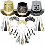 Opulent Affair New Year's Party Kit For 500 Guests, Includes Top Hats And Tiaras