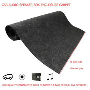 Auto Boat Carpet Trunk Liner Under-felt Gray Cover Speaker Boxes Wrap 90x 78