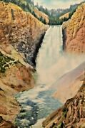 F Jay Haynes Photo Art Print Lower Falls Of They Yellowstone Rive 1930and039s