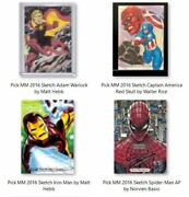 2016 Marvel Masterpieces Pick Sketch Card Character Singles From A-z Nm Vhtf 🔥