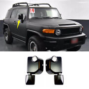 Black Rear View Side Mirror Cover Replacement For Toyota Fj Cruiser 2007-2014