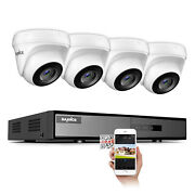 Sannce 4ch 5in1 Dvr Video Record 3000tvl Hd Outdoor Home Security Camera System