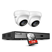 Sannce 1080p Security Camera System 5in1 4ch Dvr Outdoor Surveillance Kit 4tb Us