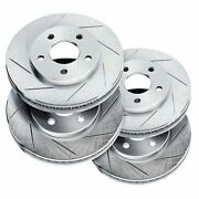 Brake Rotors [2 Front + 2 Rear] Powersport Slotted Only Disc Bm21552