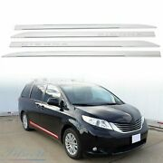 Body Side Molding Chrome Trim For Toyota Sienna 2011-2020 Abs Outside Door 4 Pcs