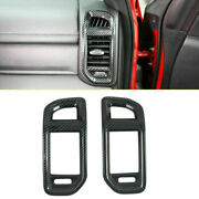 2pc Abs Carbon Fiber Inner Side Air Vent Cover Trim For Dodge Ram 1500 2019-2021