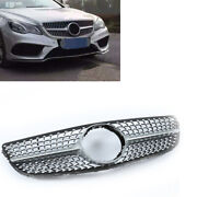 Silver Front Grille Gt Gtr Vertical For Mercedes Benz E Coupe C207 2014 15 16