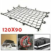 Car Roof Top Rack Mesh Barrier Cover Luggage Carrier Cargo Basket Net W/ Hooks