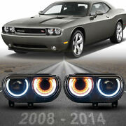 Headlights For 2008-2014 Dodge Challenger Projector Drl Sequential Blinker