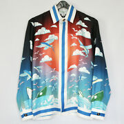Casablanca Tennis Club Ss20 Miami Speed Boat Flying Fish Buttonfront Shirt Xs