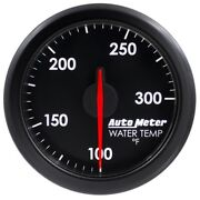 Autometer 9154-t Airdrive Water Temperature Gauge 2-1/16 In. Black Dial Face
