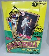 Vintage 1987 Topps Baseball Unopened Wax Box Bbce Authenticated Wrapped 36 Count