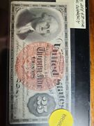 Fr 1303 25 Cent Fractional Note Us Paper Currency