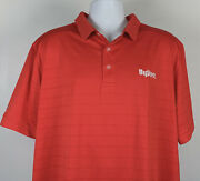 Hyvee Supermarket Polo Golf Shirt Mens Xl Red Polyester