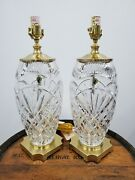 Waterford Crystal Dublin Doors Nos Limited Edition Lamps Pair 20