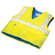 X-large Cooling Traffic Safety Vest W/ High Visibility Waterproof Nylon Durable