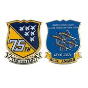 Navy Blue Angels 75th Anniversary 2.25 Challenge Coin