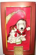Lenox Peanuts Christmas With Snoopy Ornament - July 12 Months Of Snoopy Nib