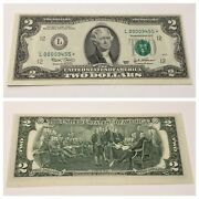 Vintage Rare 2003 Star 2 San Francisco Two Dollar Federal Reserve Bank Note Unc
