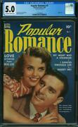 Popular Romance 7 Cgc 5.0 Off White To White Pages Tape On Interior Cover L2