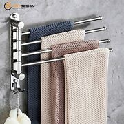 Swivel Arm Towel Bars Holder With Wall Mounted Swing Out And Folding,4 Bars