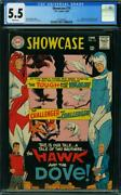 Showcase 75 Cgc 5.5 White Pages 1st Appearance And Origin Of Hawk And Dove A6