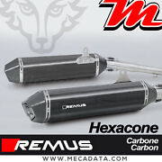 Pair Of Silent Exhaust Pipe Remus Hexacone Carbon Bmw K 1600 Gt 2011