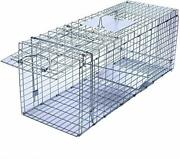 Faicuk Large Collapsible Humane Live Animal Cage Trap For Raccoon Opossum Str...