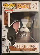 Funko Pop Pets French Bulldog Dog Gray And White Vinyl Toy Figure Aspca Vaulted 9